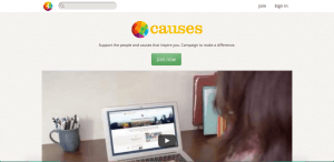 causes sites like kickstarter