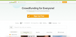 gofundme sites like kickstarter