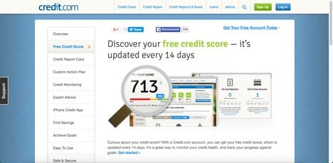 credit.com free credit score sites like credit karma