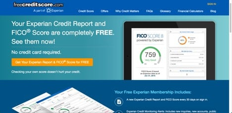 free credit score sites like credit karma
