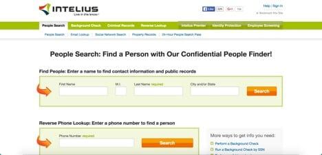 websites like intelius