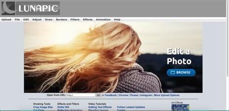 lunapic free sites like photoshop