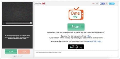 ometv random chat site