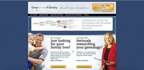 onegreatfamily sites like ancestry
