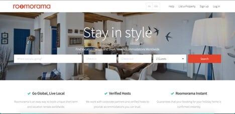roomorama airbnb competitors