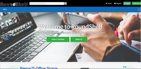 roundshelf sites like fiverr