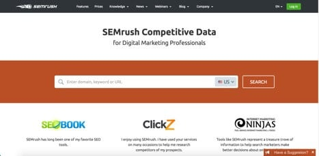 Sites like SEMrush