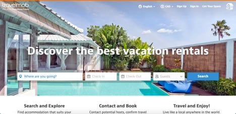 travelmob sites like airbnb