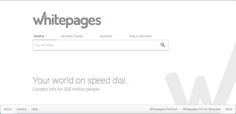 whitepages sites like spokeo