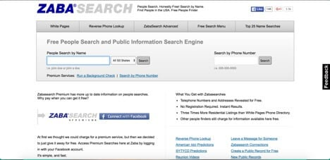 zabasearch sites like spokeo