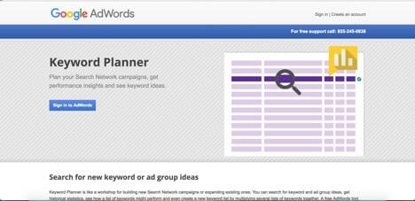 Sites like Google Keyword Planner