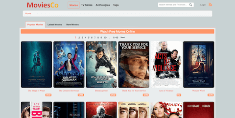 moviesco online movie streaming site