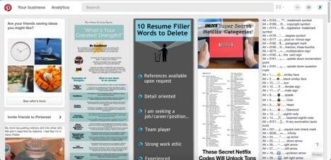 Sites like Pinterest