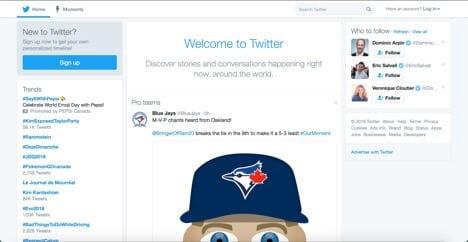 Sites like Twitter