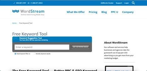 Sites like WordStream
