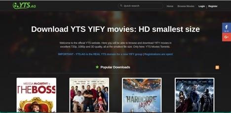 Sites like YTS