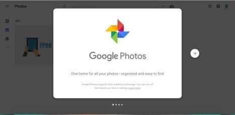 Sites like Google Photos
