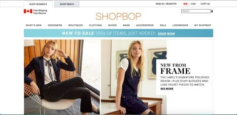 Sites like shopbop