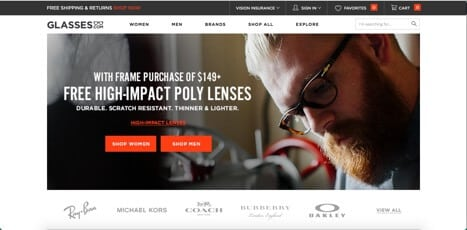 Sites like glasses.com