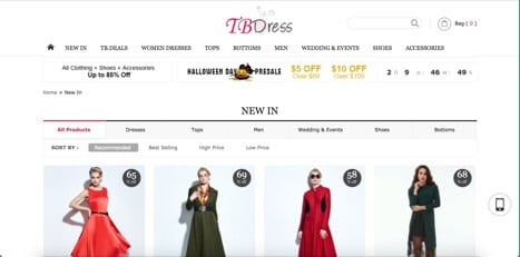 Sites like TBdress