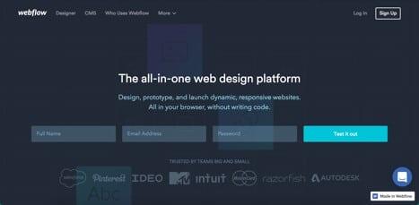 sites like webflow