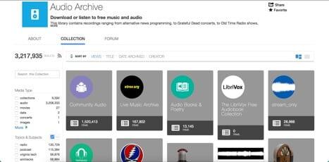audio archive