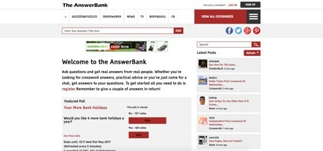 The Answer Bank