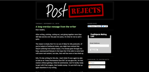 Post Rejects